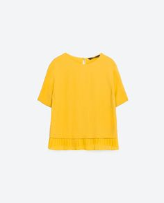 Image 8 of TOP WITH PLEATED HEM from Zara
