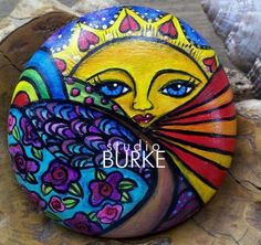 Love and Happiness Collectible Colorful Painted Sunshine Stone ROCKS. $40.00, via Etsy. #Stone Art
