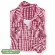Dixie Red Check Shirt - Horse Themed Gifts, Clothing, Jewelry and Accessories all for Horse Lovers | Back In The Saddle