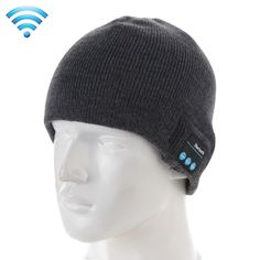 [USD7.82] [EUR7.28] [GBP5.63] Knitted Bluetooth Headset Warm Winter Hat with Mic for Boy & Girl & Adults(Grey)