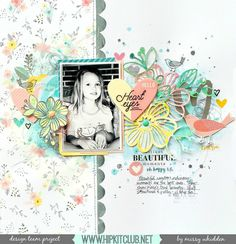 Usually designer @missywhidden goes bright with her layouts but this time using…