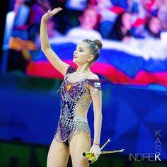 Dina Averina, Russian Gymnastics, Rhythmic Gymnastics Leotards, European Championships, Second Best, Beautiful Lines, World Championship, Olympic Games, Grand Prix