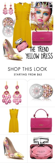 """""""Sin título #174"""" by anypalacios ❤ liked on Polyvore featuring Marie Hélène de Taillac, Guerlain, Rochas, Salvatore Ferragamo, Shoes of Prey and Gucci"""