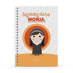 Cuaderno XL - Las notas de la monja, encuentra este producto en nuestra tienda online y personalízalo con un nombre. Notebook, Cover, Nun, Notebooks, Report Cards, Store, The Notebook, Exercise Book