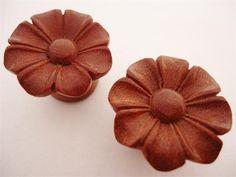 Urban Star Red Wild Flower Plugs (8 gauge - 1 inch)
