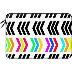 Macbook Sleeve - Rainbow Pop Zig Zag ($60) ❤ liked on Polyvore featuring accessories, tech accessories and macbook sleeve