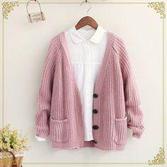 """Harajuku knit cardigan sweater coat   Coupon code """"cutekawaii"""" for 10% off"""