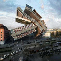 víctor enrich's ongoing series of digital distortions twist, bend and braid buildings into unrecognizable versions of themselves.