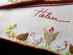 Helen Luckiest of Women Vintage Linen 8 Cocktail Napkins Hand Embroidery Swiss for sale online Paper Tags, Cocktail Napkins, Napkins Set, Vintage Ladies, Vintage Stuff, Textile Art, Hand Embroidery, Needlework, Cocktails