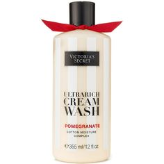 Victoria's Secret Pomegranate Ultrarich Cream Wash (£14) ❤ liked on Polyvore featuring beauty products, bath & body products, body cleansers, body wash and purple