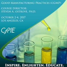 This course is designed for those who are required to understand and apply CGMP quality principles to their job as related to product discovery, development, and/or manufacturing.