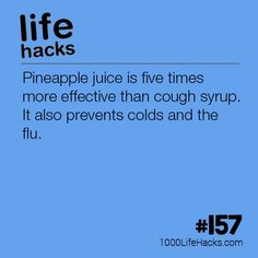post – Pineapple Juice is Better Than Cough Syrup appeared first on 1000 Life Hacks.The post – Pineapple Juice is Better Than Cough Syrup appeared first on 1000 Life Hacks. Cold Remedies, Natural Health Remedies, Simple Life Hacks, Useful Life Hacks, Teen Life Hacks, Health Tips, Health And Wellness, 1000 Lifehacks, Cough Syrup