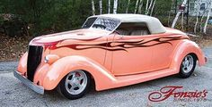 Pink 1936 Ford