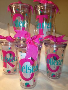 personalized 16oz tumbler cup with lid straw clear wedding
