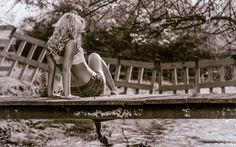 Girl on Bridge Photograph: http://www.wallpaperspub.net/pre-girl-on-bridge-3499.htm #GirlonBridge #Babeswallpapers #Girl #Bridge