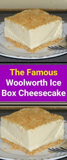Woolworth's Famous Icebox Cheesecake The Famous Woolworth Ice Box Cheesecake is one of the easiest ways to make a no-bake cheesecake at home. This light and refreshing icebox dessert were made famous by Woolworth's lunch counter back in the Icebox Desserts, Easy Desserts, Delicious Desserts, Dessert Recipes, Yummy Food, Icebox Cake Recipes, Custard Recipes, Baking Desserts, Pie Dessert
