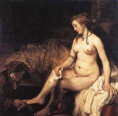 Rembrandt van Rijn, Bathseba, 1654, olieverf op doek, 142 x 142 cm, Musée du Louvre, Parijs