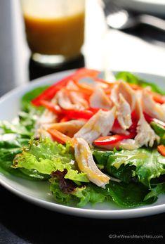 Simple Honey Mustard Salad Dressing Recipe | http://shewearsmanyhats.com/honey-mustard-salad-dressing/