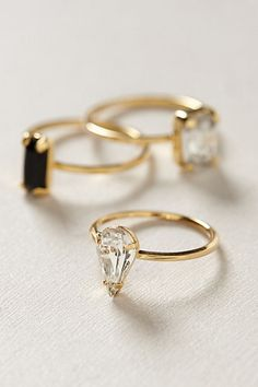 Sequentia Ring Set-I'm not usually a fan of square or rectangular gems but these are different somehow