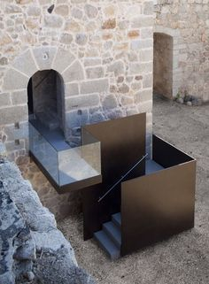 Image 17 of 34 from gallery of Coracera Castle Rehabilitation / Riaño+ arquitectos. Courtesy of Riaño+ arquitectos Architecture Design, Architecture Renovation, Stairs Architecture, Contemporary Architecture, Chinese Architecture, Futuristic Architecture, Modern Staircase, Staircase Design, Staircase Ideas