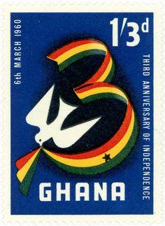 Ghana postage stamp: independence c. 1960