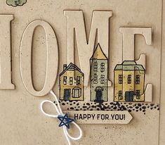 Buy stampin up uk monica gale Card Making Inspiration, Making Ideas, Housewarming Card, New Home Cards, Alphabet Cards, Fancy Fold Cards, Up House, Stamping Up Cards, Card Making Techniques