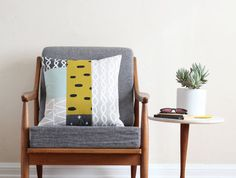Patterned Patchwork Pillow from Cotton & Flax