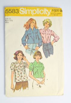 1970s Simplicity Pattern 5583 Womens Smock by KrisVintageClothing,