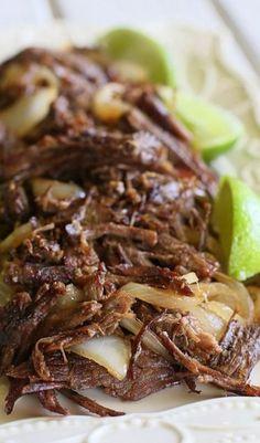 Ropa Vieja - Cuban Shredded Beef (use olive oil instead of vegetable oil)