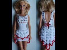 Falda olan a crochet para barbie - YouTube