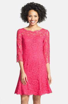 Nordstrom  Eliza J Lace Tulip Dress (Regular & Petite)