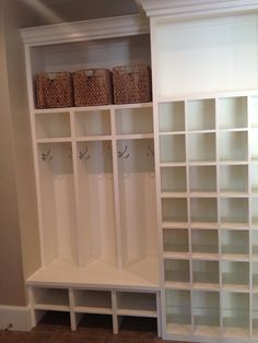 Mudroom Organization 2013 NW Street of Dreams Photo by Joanna Greydon of In Tidy Order Kids Shoe Storage, Small Storage, Diy Storage, Storage Boxes, Storage Ideas, Garage Storage, Storage Solutions, Mudroom Laundry Room, Mudroom Cabinets