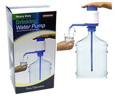 Drinking Water Hand Pump Heavy Duty Drinking Water Pump, 5 gallon Manual Pump for Bottle Water Water Fountain Pumps, Gallon Water Bottle, Camper Van Conversion Diy, Water Coolers, Bath Fixtures, Drinking Water, Bottled Water, Van Life, Manual