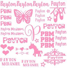 School Supply Labels, School Labels, 5 Inch And Up, Disney Decals, Name Labels, Name Stickers, Monogram Decal, Personalized Stickers, Pencil Cases