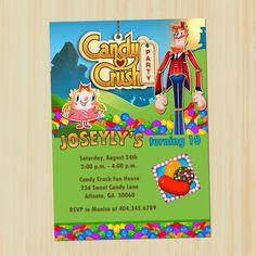 Candy Crush Custom Printable Birthday Invitation | partytimedecor - Digital Art  on ArtFire
