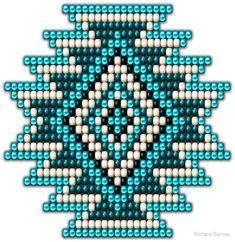 """Native Style Turquoise Sunburst"" von Ricky Barnes - My CMS Native Beading Patterns, Seed Bead Patterns, Native Beadwork, Native American Beadwork, Beaded Jewelry Patterns, Peyote Patterns, Weaving Patterns, Cross Stitch Patterns, Indian Beadwork"
