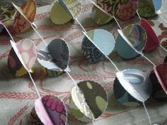Belle 3D Paper Garland Scalloped Circles by MaisyandAlice on Etsy, $19.00