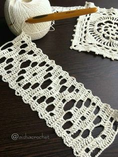 Learn to Crochet – Crochet Wave Fan Edging. How I made this wave fan edging border stitch. Filet Crochet, Crochet Motifs, Crochet Stitches Patterns, Crochet Squares, Crochet Granny, Crochet Doilies, Diy Crafts Crochet, Crochet Projects, Crochet Boarders