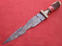 SUPERB HAND MADE DAMASCUS STEEL HUNTING KNIFE #Handmade