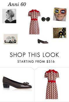 """""""anni 60"""" by mazzagliadavide on Polyvore featuring moda, Salvatore Ferragamo, Gucci e Linda Farrow"""