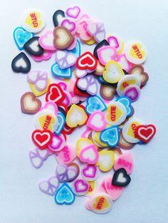 Charlies Nail Art - HEART FLIMO NAIL ART (100pcs), £0.99 (http://www.charliesnailart.co.uk/heart-flimo-nail-art-100pcs/)