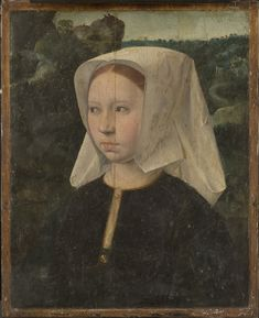 c 1510-1530 Netherlandish (Northern Netherlands) Possibly a fragment of a panel from a diptych or a fragment of the right wing from a triptych  Artist/maker unknown, active northern Netherlands, Netherlandish. Philadelphia Museum of Art - Collections Object : Portrait of a Woman