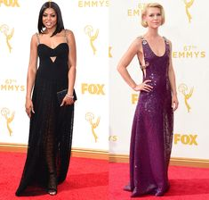 Chain Straps  While only two big names mastered this trend on the red carpet at the 2015 Emmys, they both got plenty of praise from fashion critics. Empire's Taraji P. Henson wore a custom Alexander Wang black gown with thick chain-link straps, and Claire Danes opted for a subtle version in Prada.