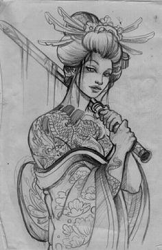 #geishatattoos #geisha #tattoos #vorlage