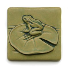 Lily Pad Frog 6x6 Tile by GretchenKramp on Etsy