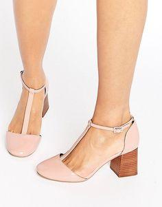 ASOS ONE WISH T-Bar Heels - Pink