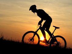 Mountain Biker Silhouette HD Wallpaper