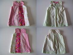 Kleider - rosa-grünes Wendekleid - ein Designerstück von whiteturtle bei DaWanda