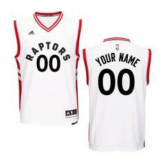 3d5c6aae4119 Toronto Raptors adidas Custom Replica Home Jersey - White