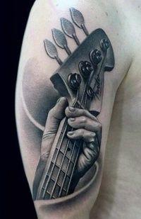 Afbeeldingsresultaat voor bass guitar tattoo